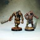 Les deux Guerriers-Totem Auroch (plastique)