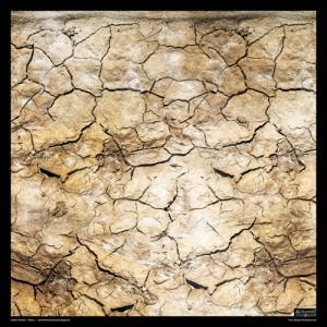 Tapis de jeu Tissus Terre Aride 60x60