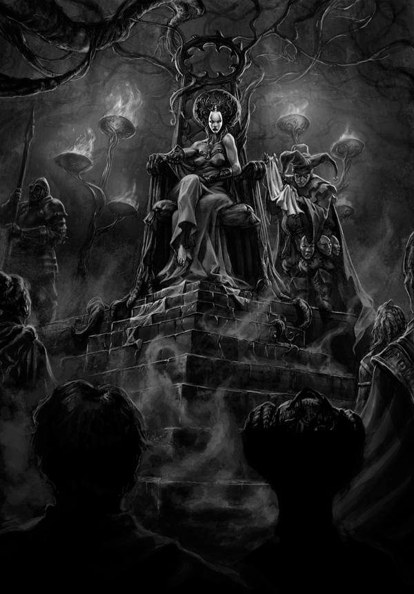 illustration trone
