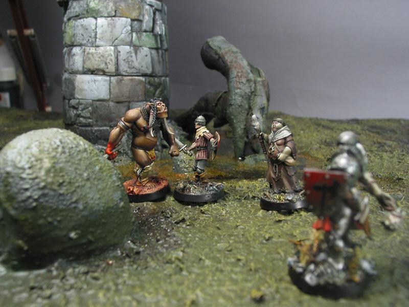 Guerrier Totem Auroch contre recrue