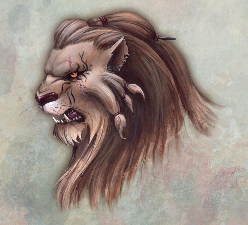 tete lion khaliman