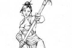 milicien lancier femme