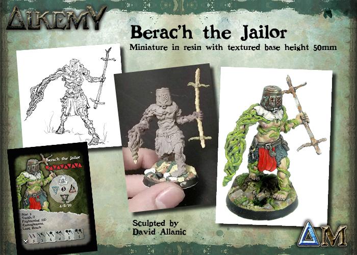 Berac'h The Jailor, hero size 3 for Kingdom of Avalon