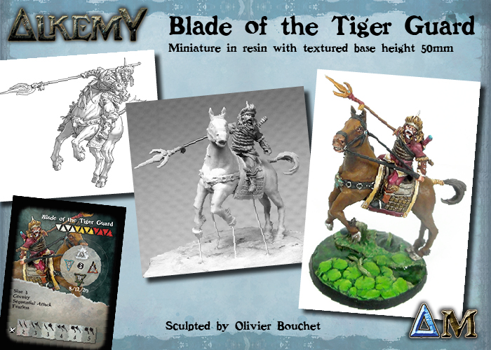 Blade of the Tiger Guard, troop size 3 for Empire of the Jade Triad
