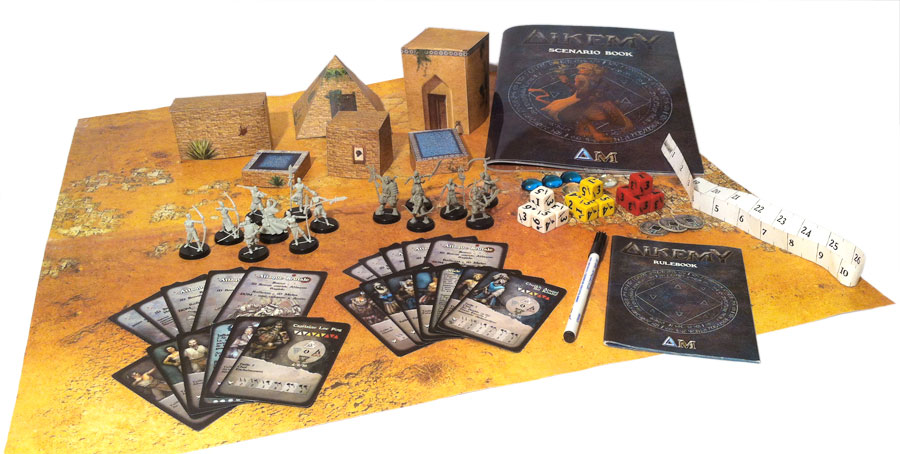 Starter box for Alkemy, miniatures game