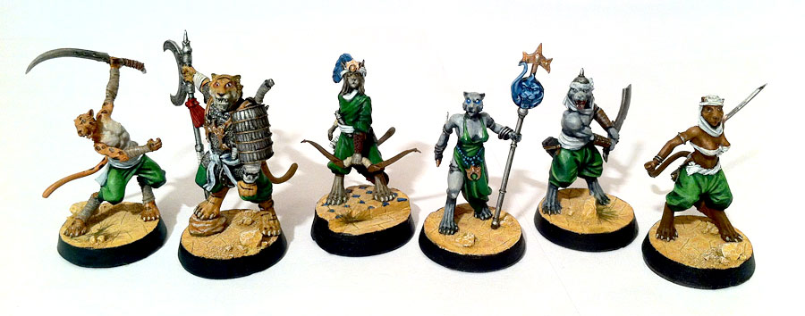 Painted Khalimans miniatures for Alkemy Starter Box