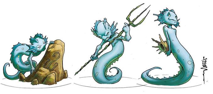 Les 3 ondins pour la Sororité et Fadela