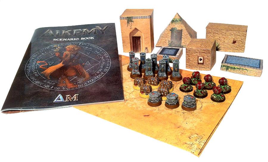 Kickstarter Alkemy : les packs décors pour le jeu de figurine Alkemy