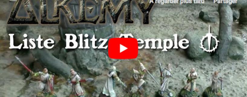 Vidéo – liste blitz temple